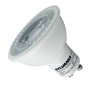 LED 5w GU10 240v PAR 16 Sylvania White Light Bulb   3000K   36°   Dimmable    345 Lumens   0028440